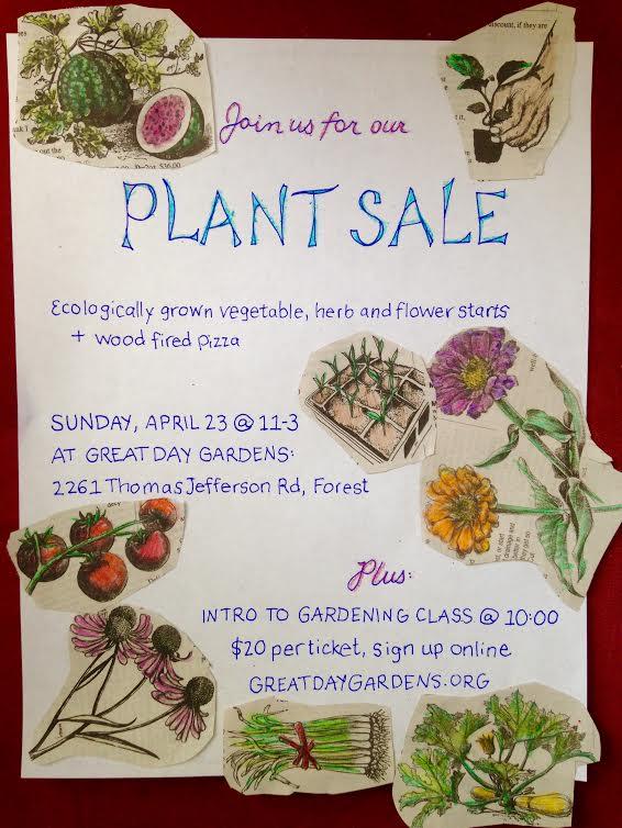 Plant Sale Flier
